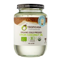Органическое кокосовое масло холодного отжима 420 мл.