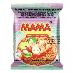 Тайская лапша MAMA Tom Yum со вкусом креветок Том Ям, 60 г
